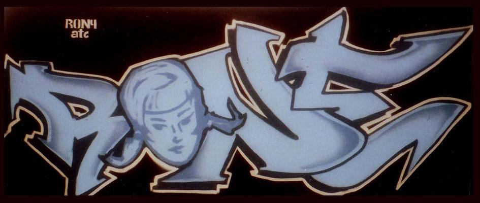 Aerosollack auf Leinwand [2005], 100 x 250 cm