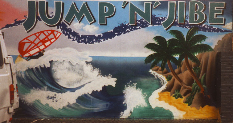 JUMP'N'JIBE, Surfshop [with CURLY], Bremen 1996