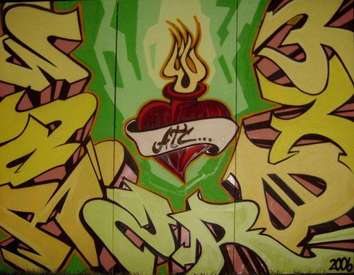WARZ, RONY, Aerosollack auf Leinwand [2006], 200 x 300 cm