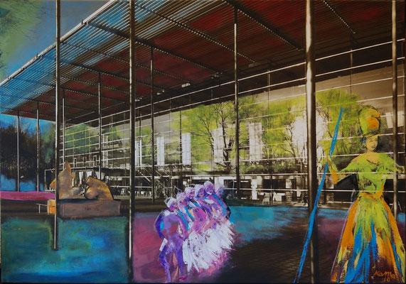 Kultur(t)raum 5, Öl, Leinwandfoto, 70 x 100 cm