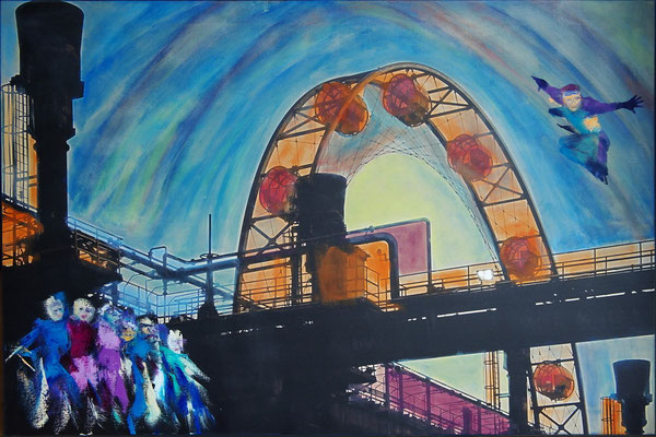 Kultur(t)raum 4, Öl, Leinwandfoto, 70 x 105 cm