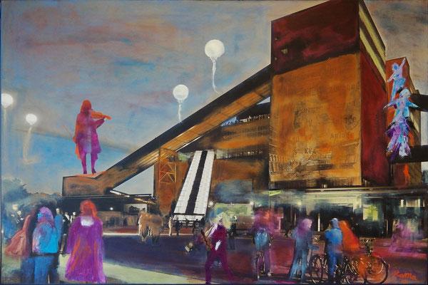 Kultur(t)raum 2, Öl, Leinwandfoto, 70 x 105 cm