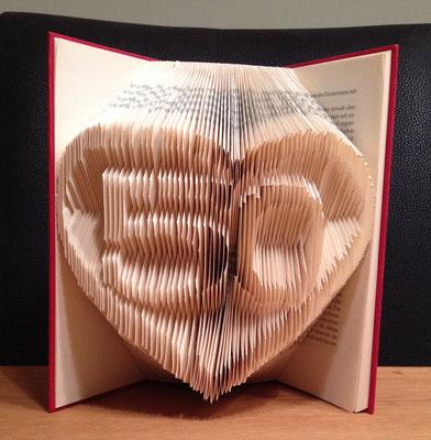 Geschenkidee für Hochzeit. Hardcover Buch mit Herz und 50 (Jahre)