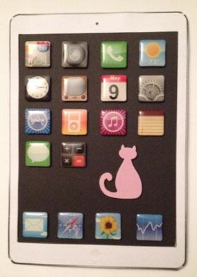 Papier-iPad mit AppMagnete und Geheimfach - tolle Geschenkidee