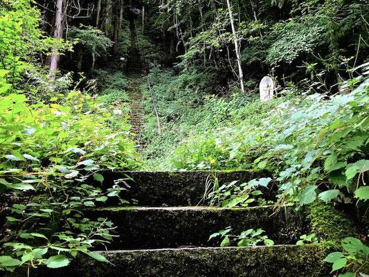 岩間観音の階段