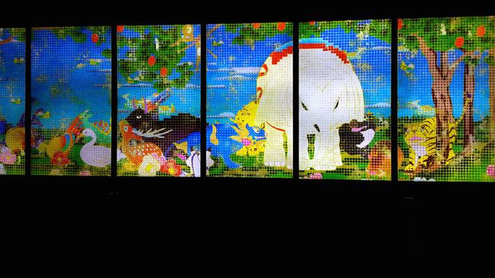 鳥獣花木図屏風のアニメ 手塚治虫みたいだな