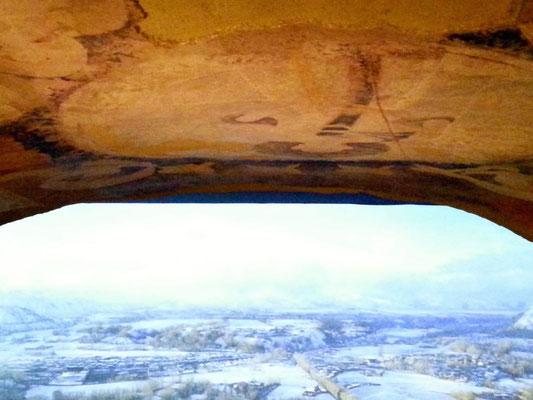 石窟からの景色