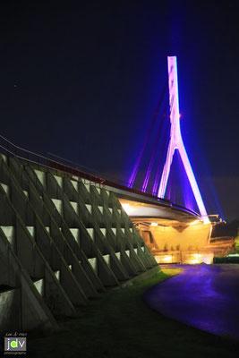 Neue Rheinbrücke bei Vörde