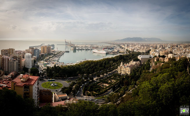 Blick über Malaga
