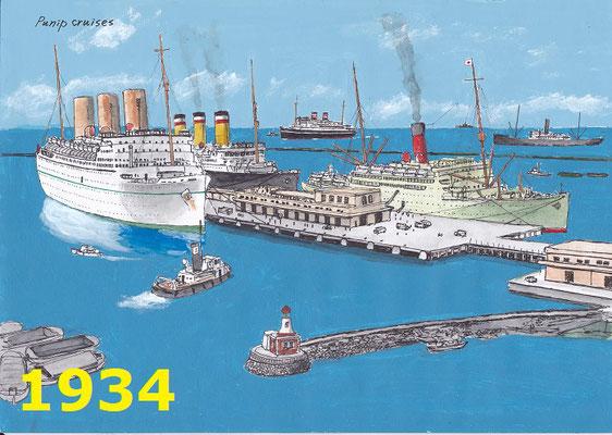 1934年 二代目船客ターミナルの頃