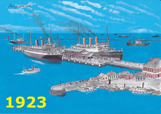 1923年 初代船客ターミナルの頃 関東大震災で崩壊