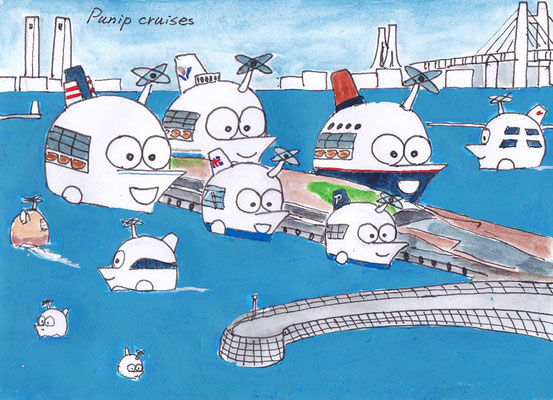 横浜港大さん橋がクルボンに占拠された恐怖の未来図