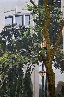 GRÜNDERZEITLICHE ARCHITEKTURILLIUSION  Rothestraße 55 Hamburg-Ottensen, 2008, Auftraggeberin: Constanze Villar, Photo: Katrin Ohlhoff