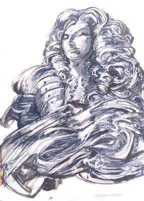 Ludwig XIV 2016 / Gert Neuhaus / Acryl aus Papier / Acryl on paper / 2006 / currently for sale