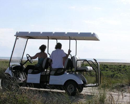 Visite guidée du Domaine du Marquenterre en voiturette électrique