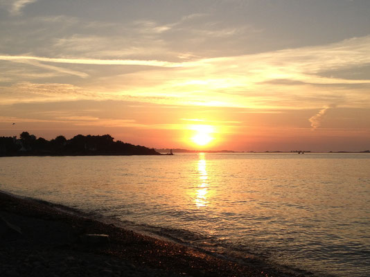 coucher de soleil sur Brestan, Pleubian