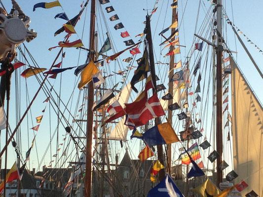 voir les vieux gréements à Paimpol, fête des chants de marin