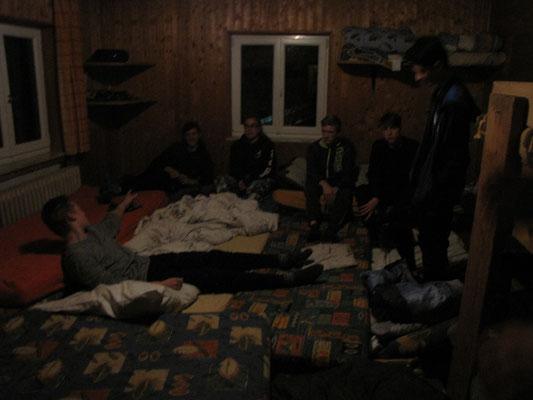 Eines der Matratzenlager