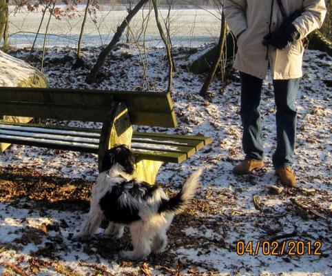 ... und mit meinem Freund Peter im Wald.