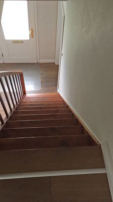 Die Treppe war steiler als die A-Wand auf dem Hundeplatz.