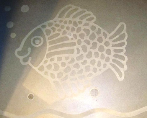 Sogar in der Dusche habe ich einen Fisch gesehen.