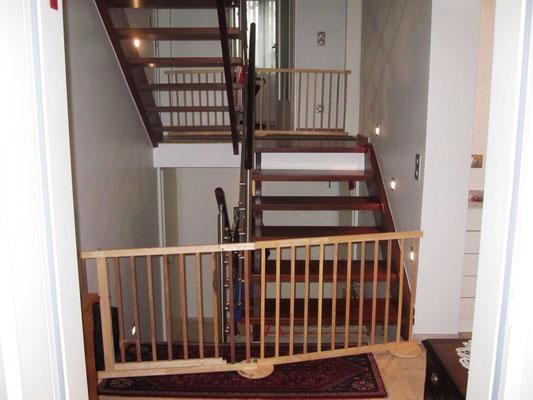 Puh, da habe ich noch einmal Glück gehabt! Die Gitter sind dazu da, die Treppen abzusperren.