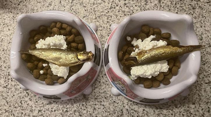 ... eines fürstlichen Abendessens mit Sprotten von unserem Lieblings-Fischmann.