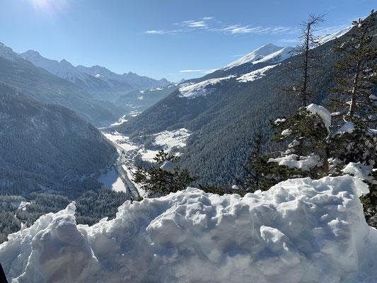 Da unten ist die Schweiz.