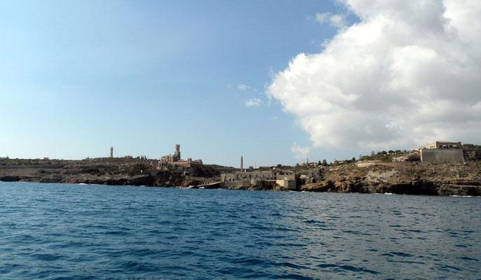 Die südlichste Stadt Siziliens: Portopalo di Capo Passero - from seaside
