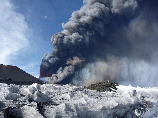 Etna-Ausbruch 12.4.2012 - live dabei!