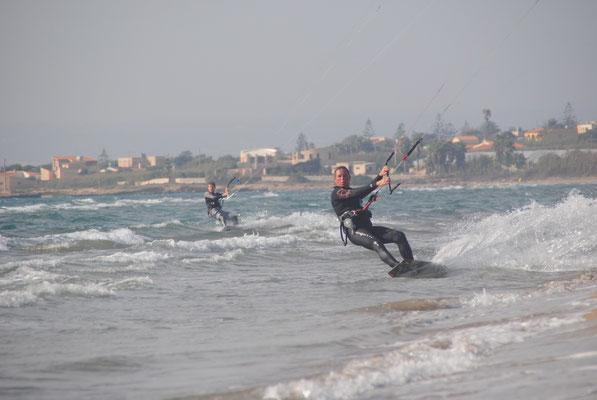 Hier geht es aber auch: Kiten an der Costa dell´Ambra