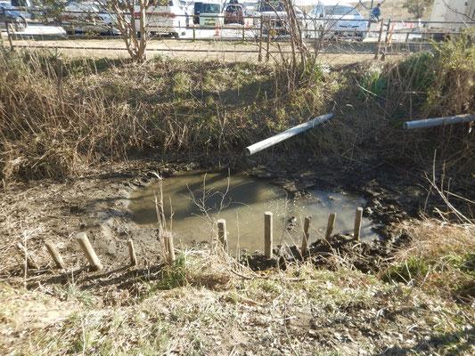 泥上げ後の水路
