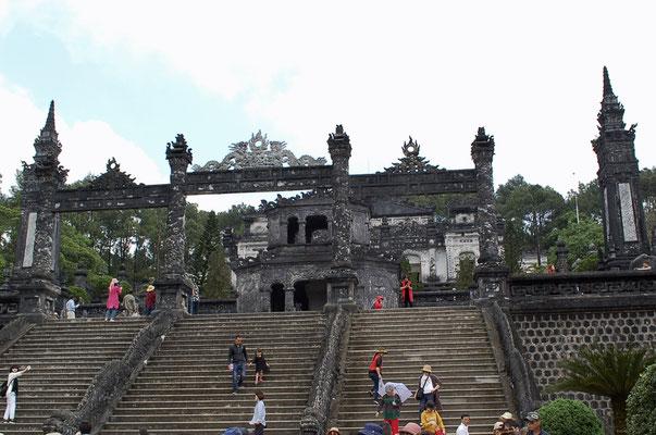 カイディン帝廟の階段
