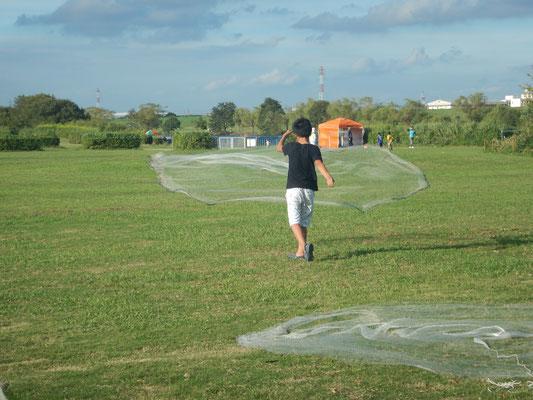投網の練習