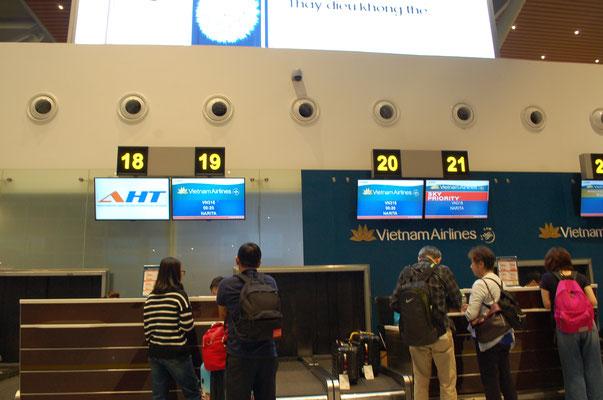 ダナン国際空港、チケットカウンター