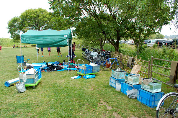 テントと水槽