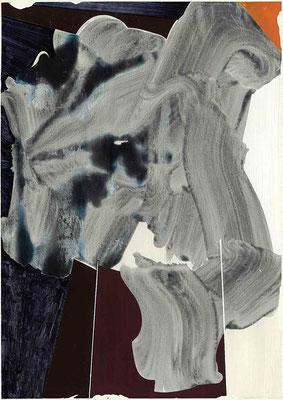 1-NULL-17 /  mixed media, paper / 59 x 42 cm