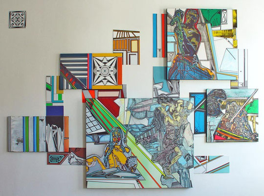 LOGBOOK / mixed media, canvas / 201 x 286 cm