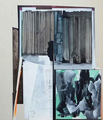 1-SECHS-18 / mixed media, paper, canvas / 150 x 130 cm