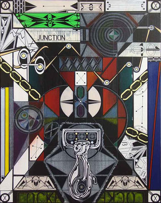 JUNCTION / mixed media, canvas / 80 x 60 cm