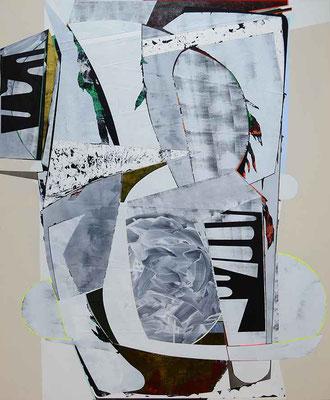 0-ZWEI-21 / mixed media, paper, canvas / 150 x 120 cm