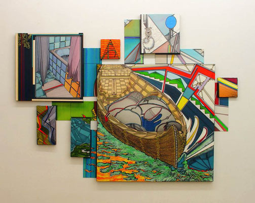 ALLGEMEINANAESTHESIE / mixed media, canvas / 170 x 228 cm
