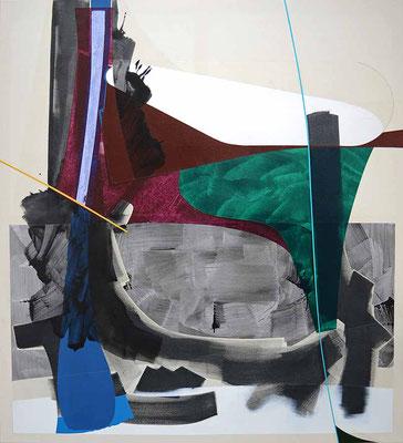 3-NULL-17 / mixed media, canvas / 150 x 130 cm