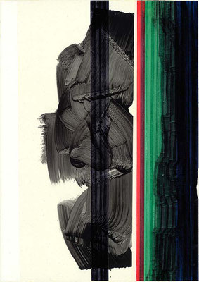 1-ACHT-17 /  mixed media, paper / 59 x 42 cm