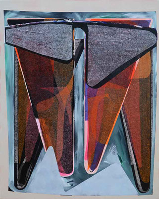 0-SIEBEN-20 / mixed media, paper, canvas / 100 x 80 cm