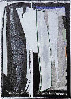 0-SECHS-21 / mixed media, paper, canvas / 40 x 30 cm