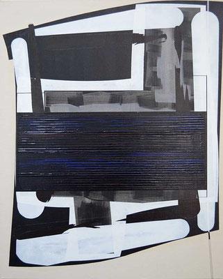 2-VIER-17 / mixed media, canvas / 100 x 80 cm