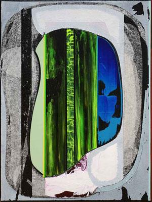 1-ZWEI-20 / mixed media, paper, canvas / 40 x 30 cm