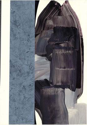 0-SECHS-17 /  mixed media, paper / 59 x 42 cm
