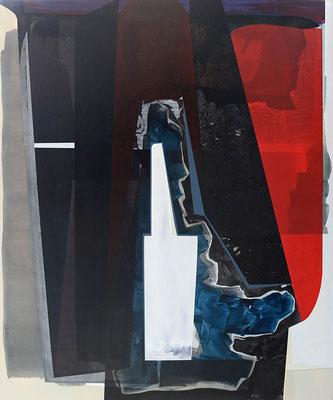 0-SIEBEN-17 / mixed media, canvas / 180 x 150 cm